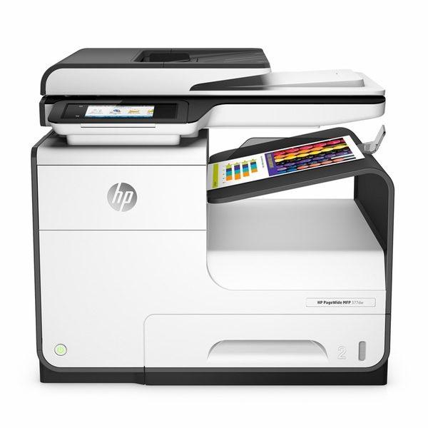 Photo de notre imprimante étiquettes hp pagewide 377dw mfp en vente à Orditronics Tournai