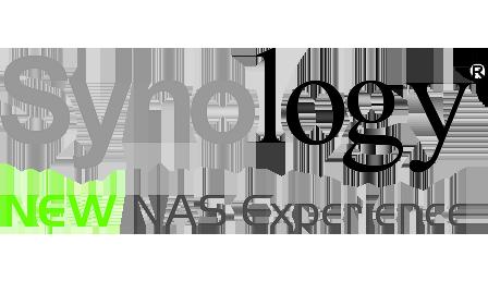 Logo de notre partenaire, synology, grande marque d'informatique avec laquelle nous travaillons