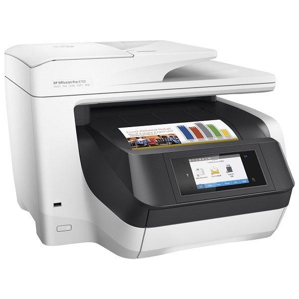 Cette imprimante multifonction HP Officejet Pro 8720 vous offre des impression de qualité professionnelle avec un coût par page réduit. Son design très peu encombrant, elle vous permet une productivité défiant toute concurrence.